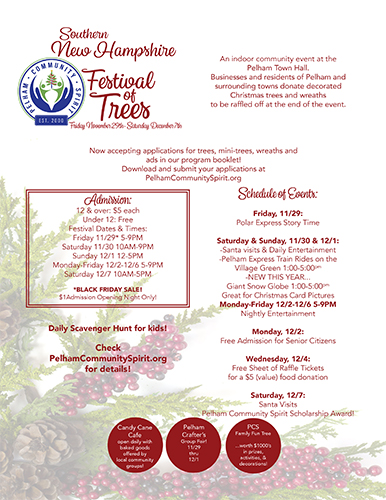 Southern NH Festival of Trees 2019 flyer
